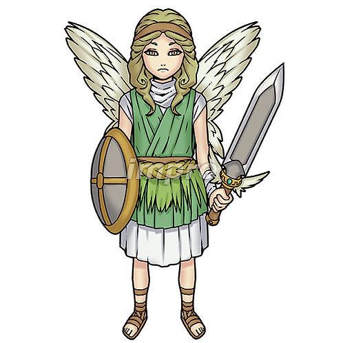 神話の天使(影あり)
