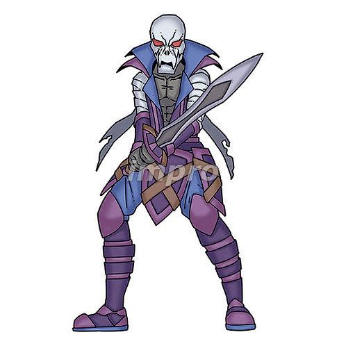 包帯を巻いた骸骨の海賊(影あり)
