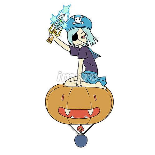 気球に乗った小さな海賊