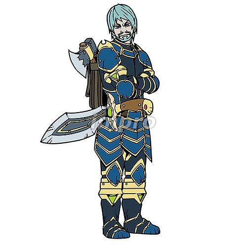 戦いに備えた熟練の騎士