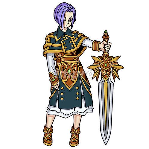 冷たい目をした大剣の騎士(影あり)