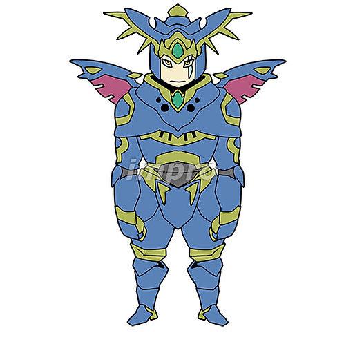 邪悪な鎧を着た騎士