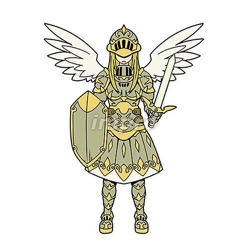 重装備の女性天使