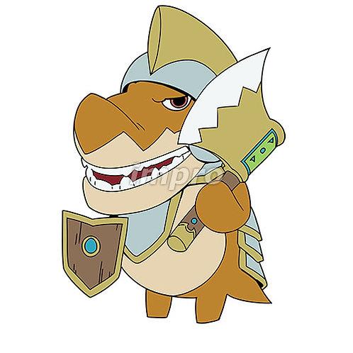 金の斧のワニ兵士