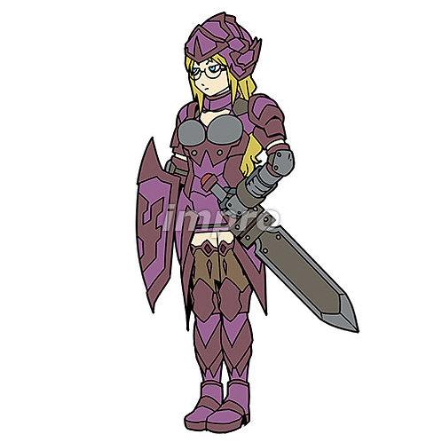 メガネの女騎士
