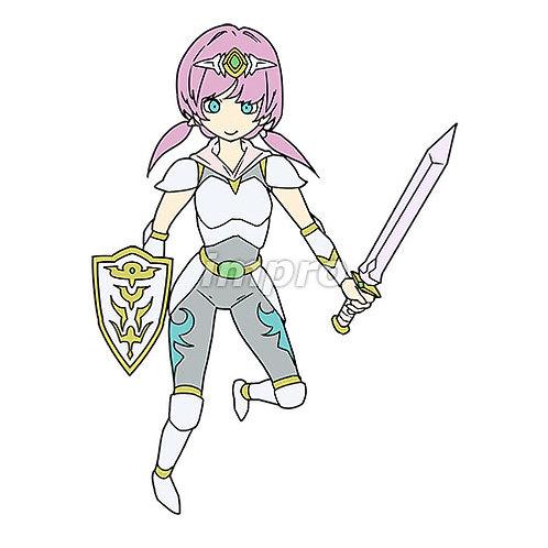 白い鎧を着た聖騎士の女性