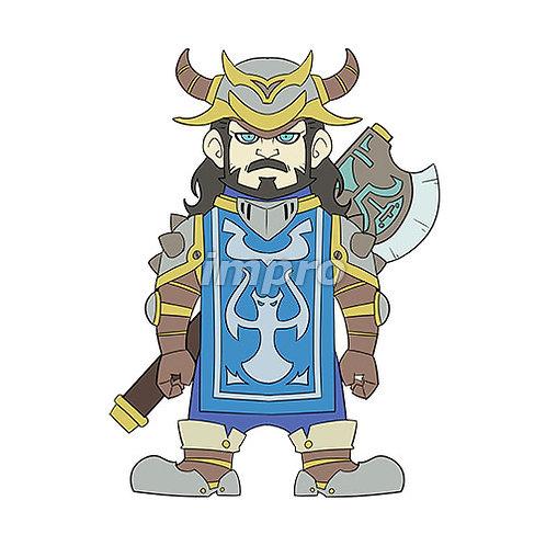 大きな斧を持った戦士
