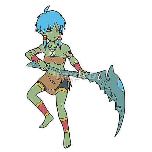 鎌を持つ部族の少女