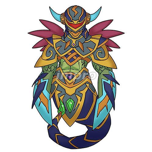 神殿を守る古の魔獣(影あり)
