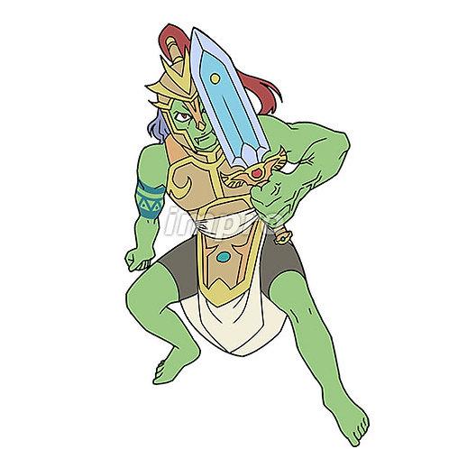 片手剣を持った筋肉質の悪魔