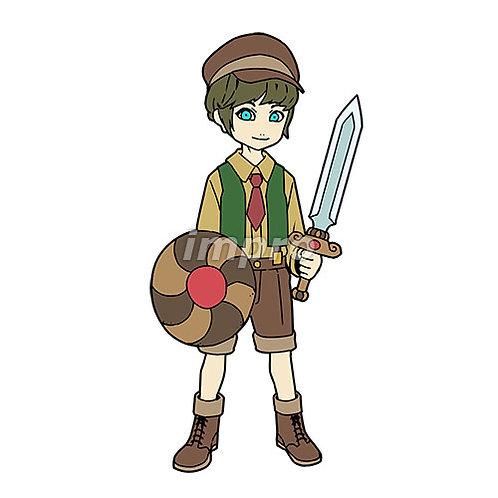 勇敢な村の少年