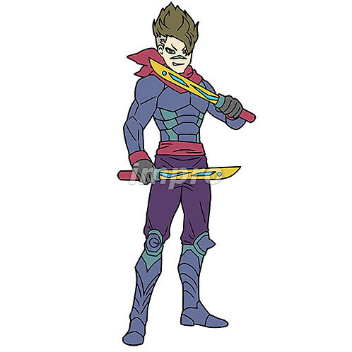 片手剣の盗賊ヒーロー