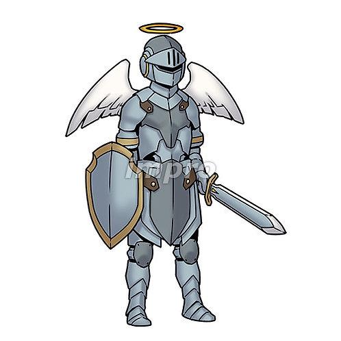 銀の鎧の天使(影あり)