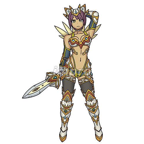 戦い慣れした女騎士(影あり)