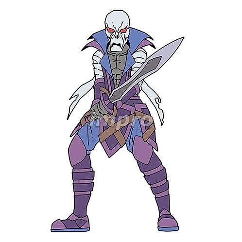 包帯を巻いた骸骨の海賊