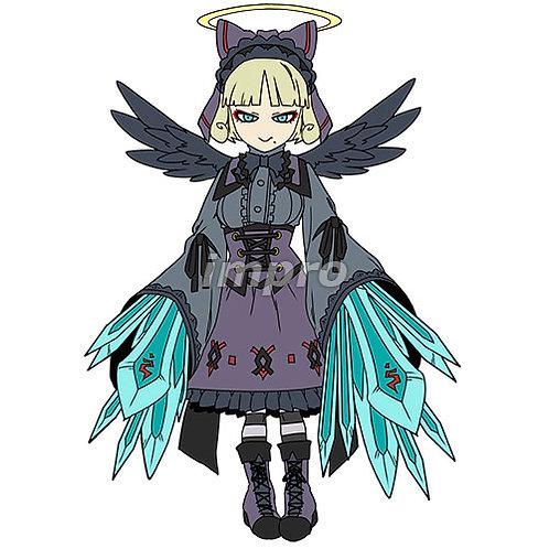 漆黒のゴシック天使