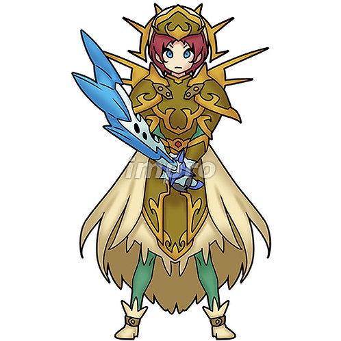 聖なる両手剣の騎士(影あり)