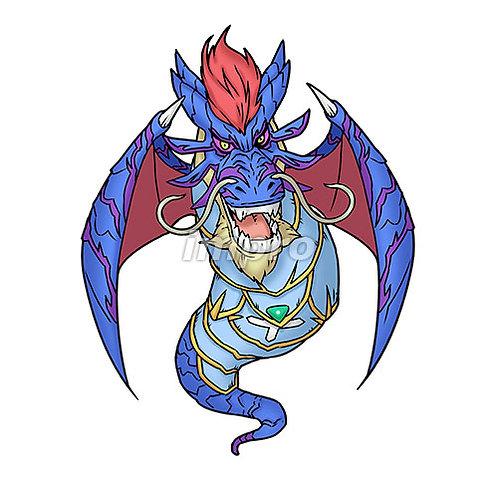 ドラゴンの魔人(影あり)
