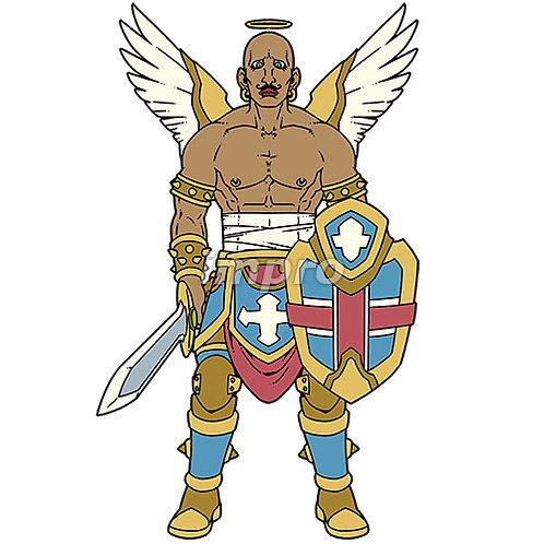 オカマっぽい筋肉質の天使