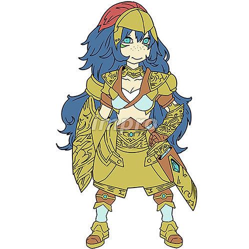 金の鎧を着た剣士