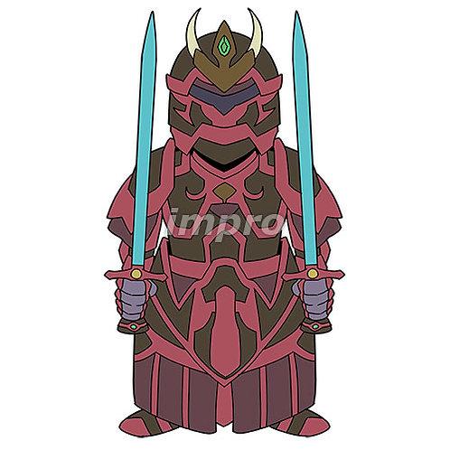 双剣の重装備騎士