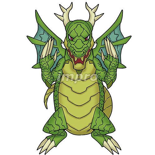 強靭なドラゴン(影あり)