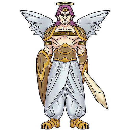 屈強な兵士長の天使(影あり)