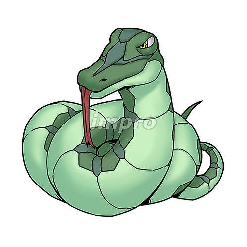 舌を出す大蛇(影あり)
