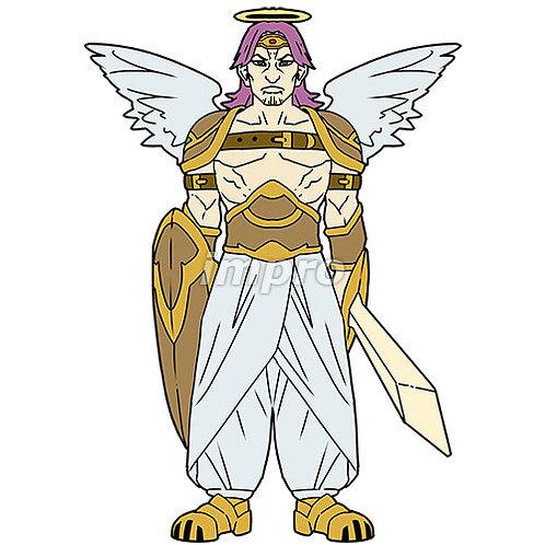 屈強な兵士長の天使