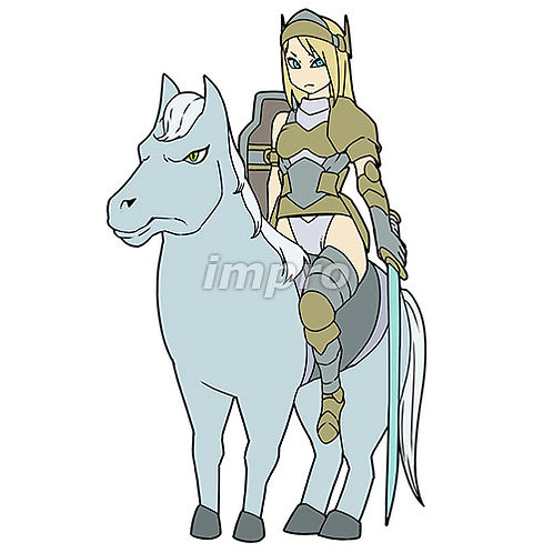 馬に乗った女騎士