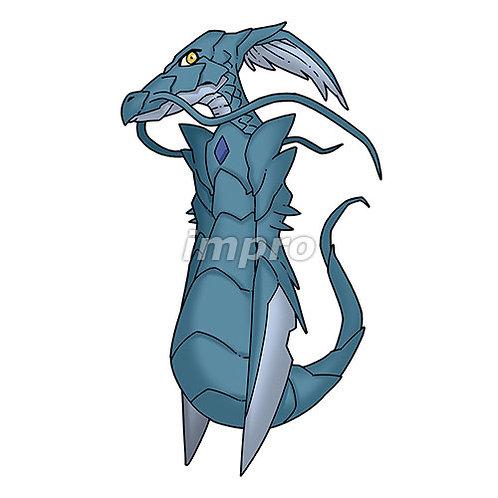 腕が刃の甲殻竜(影あり)