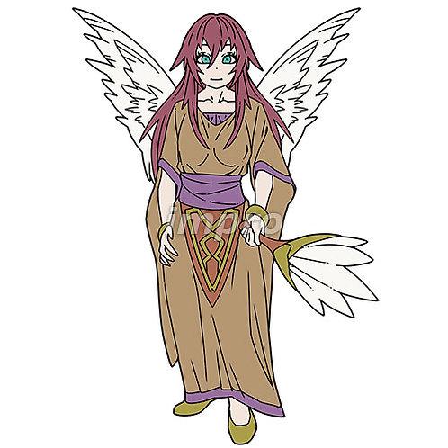 羽ぼうきを持った清楚な天使
