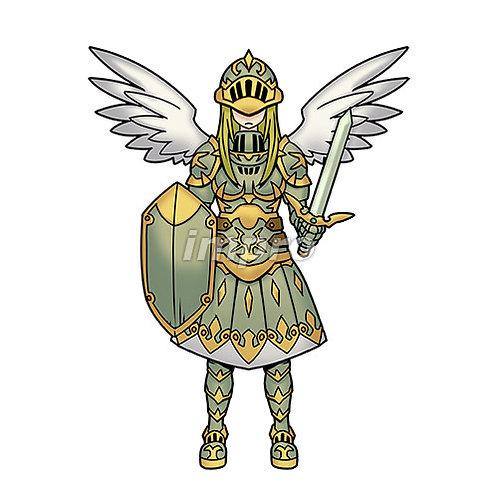 重装備の女性天使(影あり)