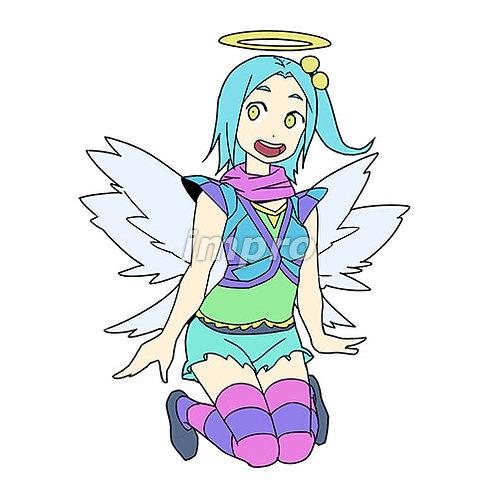 カラフルな格好をした天使