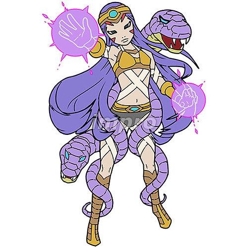 妖艶な蛇使いの魔術師