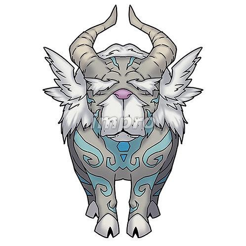 紋章を持つヤギ長老(影あり)