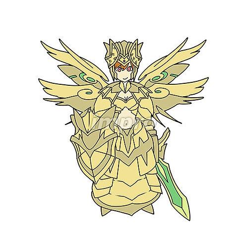 金の鎧で完全武装した天使