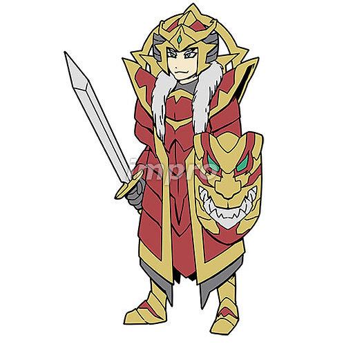 和風の甲冑を着た戦士