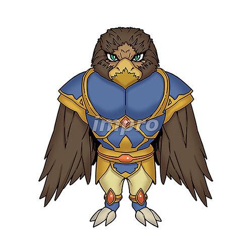 鳥人類の兵士(影あり)