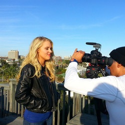 Chef Sarah filming a pilot for tv
