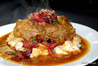 Personal Chef Sarah serves homemade osso bucco to Dallas Fort Worth residents