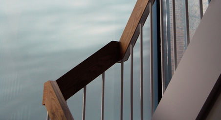 Timber fine detailed balustrade
