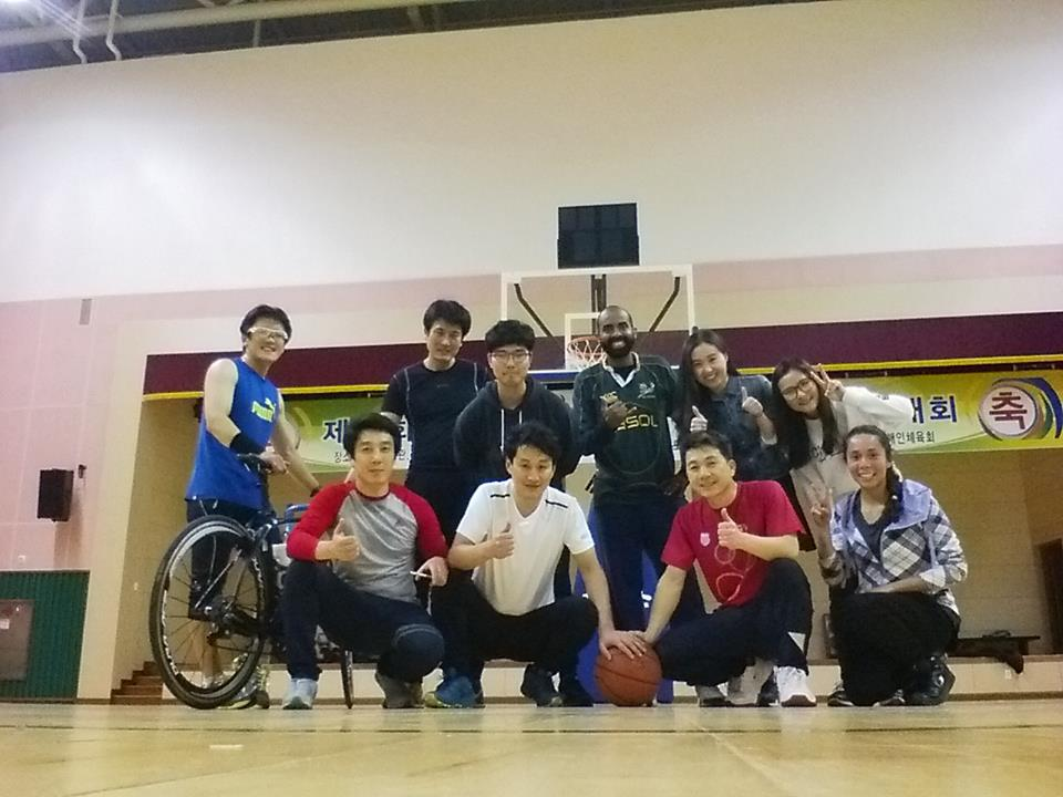 Basket ball game with co -teachers