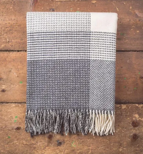 Cashmere/Lambswool Dobby Throw