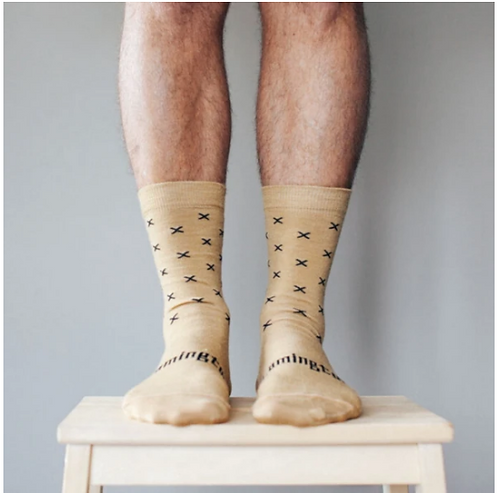 Chestnut - Merino Wool Crew sock - Mens.