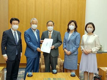 2021年6月4日不妊治療への支援拡充を目指す議員連盟、菅義偉内閣総理大臣申入れ
