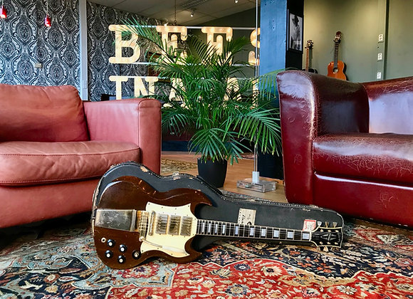 1970 Gibson SG Custom Walnut Gold Maestro Lyre Vibrola 3PU 3-pickup