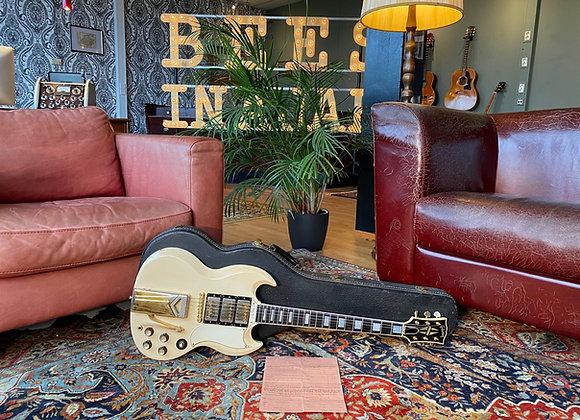 SOLD! - 1963 Gibson Les Paul Custom SG Polaris White Sideways Vibrola PAF