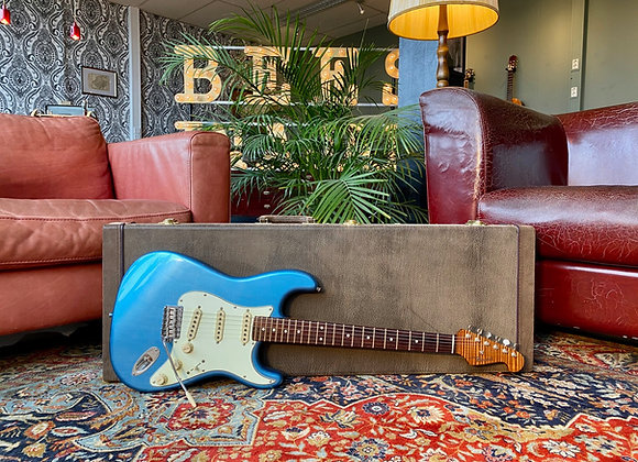 SOLD! - 2017 Panucci Stratocaster Relic Lake Placid Blue Roasted Flame Maple