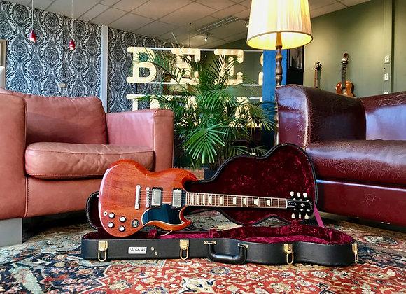 "SOLD! - 2016 2.8kg '61 Gibson SG/Les Paul Standard Custom Shop ""aged"" Cherry"